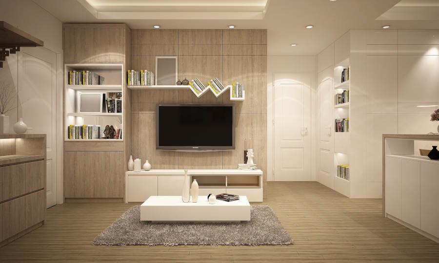 Interior de vivienda, salón